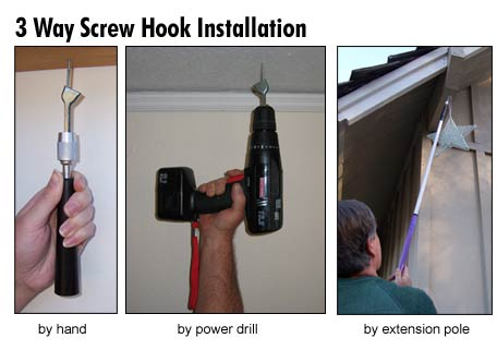 3 Way Screw Hook Installation